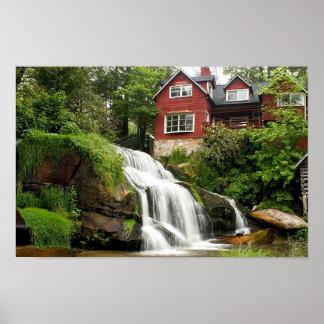 ヒマラヤスギの石の滝 ポスター