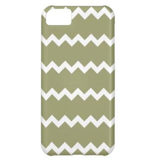 ヒマラヤスギの緑のシェブロンのiPhone 5の箱 iPhone5Cケース