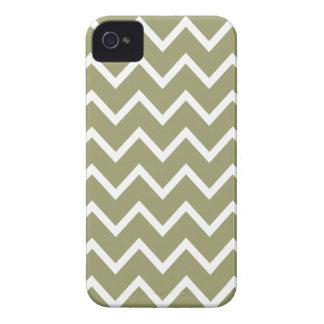 ヒマラヤスギの緑のシェブロンIphone 4Sの箱 Case-Mate iPhone 4 ケース