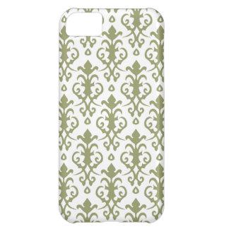 ヒマラヤスギの緑のダマスク織のiPhone 5の箱 iPhone5Cケース