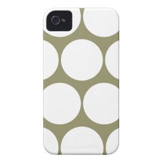 ヒマラヤスギの緑の大きい水玉模様のIphone 4/4Sの箱 Case-Mate iPhone 4 ケース