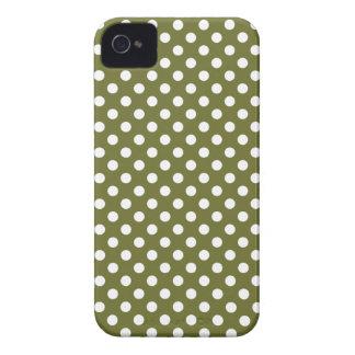 ヒマラヤスギの緑の水玉模様のブラックベリーのはっきりしたな箱 Case-Mate iPhone 4 ケース