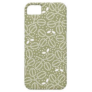 ヒマラヤスギの緑の葉及び蝶iPhone5箱 iPhone SE/5/5s ケース