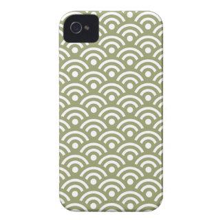ヒマラヤスギの緑のSeigaihaパターンIphone 4/4Sの箱 Case-Mate iPhone 4 ケース