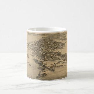 ヒマラヤスギの鍵FL (1884年)のヴィンテージの絵解き地図 コーヒーマグカップ