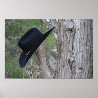 ヒマラヤスギ木の帽子掛け ポスター