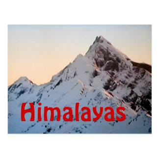 ヒマラヤ山脈のエベレストの郵便はがき ポストカード
