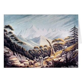 ヒマラヤ山脈のネパールの牧夫、1826年 カード