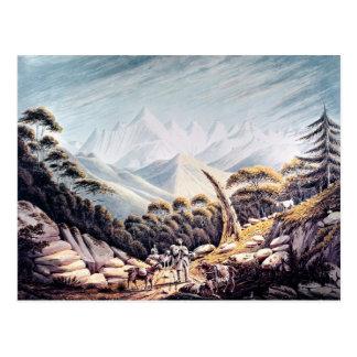 ヒマラヤ山脈のネパールの牧夫、1826年 ポストカード