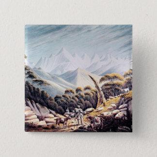 ヒマラヤ山脈のネパールの牧夫、1826年 5.1CM 正方形バッジ