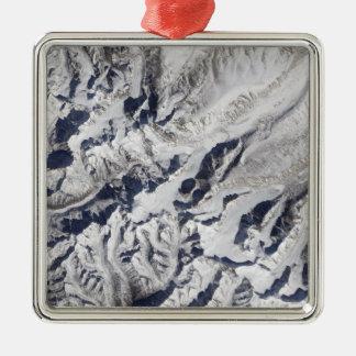 ヒマラヤ氷河の衛星眺め メタルオーナメント