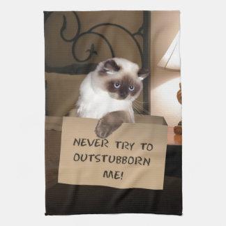 ヒマラヤ箱の猫 キッチンタオル