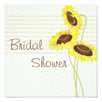 Sunflowers And Stripes Collection Bridal Shower