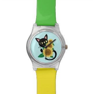 ヒマワリとの気まぐれ 腕時計