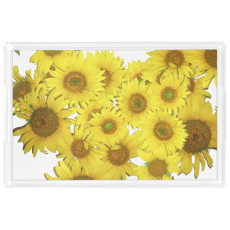 ヒマワリによっては花のアクリルの皿が開花します アクリルトレー