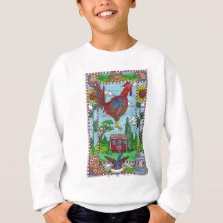 ヒマワリのオンドリ スウェットシャツ
