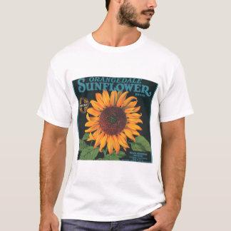 ヒマワリのクラシックなデザインのTシャツ Tシャツ