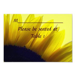 ヒマワリの名前入りな結婚式の婚約の場所 8.9 X 12.7 インビテーションカード