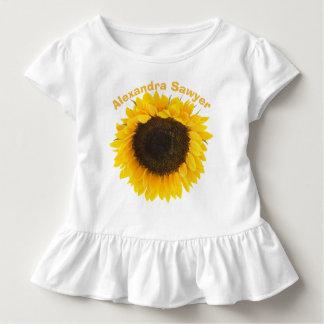 ヒマワリの幼児のひだのティー トドラーTシャツ