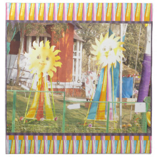 ヒマワリの日光の装飾のフェスティバルのcelebrati ナプキンクロス