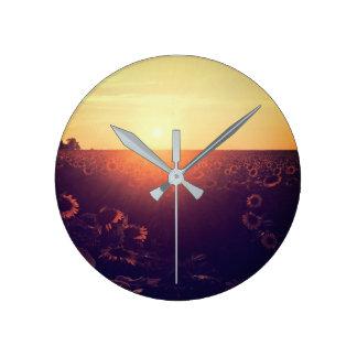 ヒマワリの時計 ラウンド壁時計