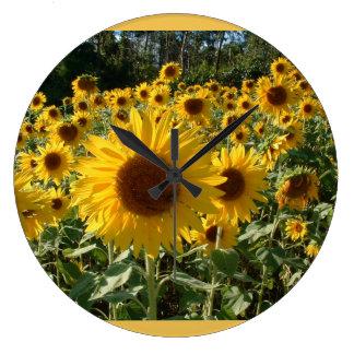 ヒマワリの時計… ラージ壁時計