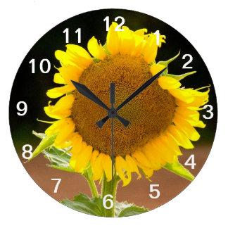 ヒマワリの時計 ラージ壁時計