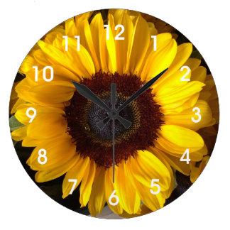 ヒマワリの柱時計 ラージ壁時計