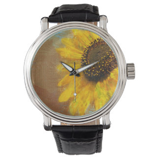 ヒマワリの破烈の腕時計 腕時計