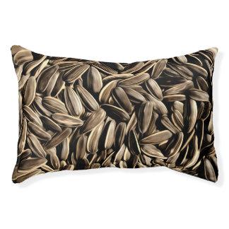 ヒマワリの種のクールなおもしろい スモールドッグベッド