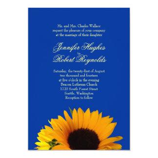 ヒマワリの結婚式招待状 カード