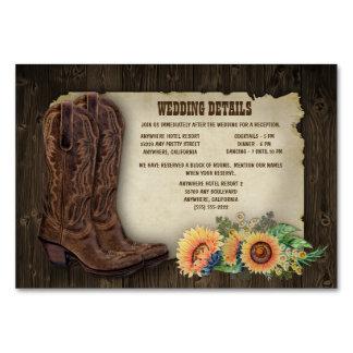 ヒマワリの結婚披露宴の調節カード カード