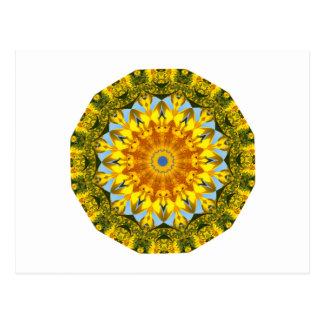 ヒマワリの自然、花曼荼羅(Blumen曼荼羅) ポストカード