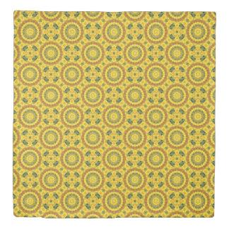 ヒマワリの自然、花曼荼羅(Blumen曼荼羅) 掛け布団カバー