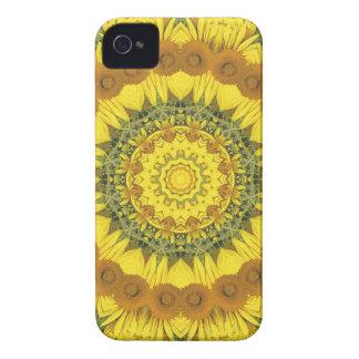 ヒマワリの自然、花曼荼羅(Blumen曼荼羅) Case-Mate iPhone 4 ケース