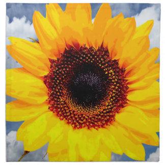 ヒマワリの花だけ + あなたの文字及びアイディア ナプキンクロス
