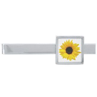 ヒマワリの花の結婚式 銀色 ネクタイピン
