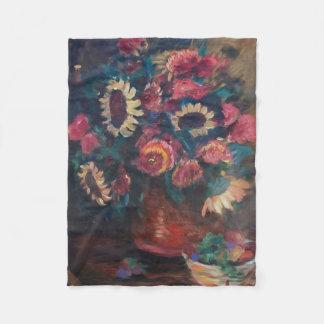 ヒマワリの花束 フリースブランケット