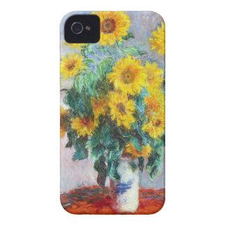 ヒマワリの花束、1880年のクロード・モネ Case-Mate iPhone 4 ケース