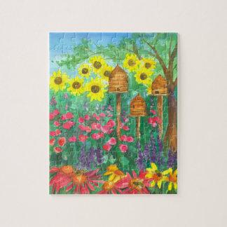 ヒマワリの蜂のSkepの庭 パズル