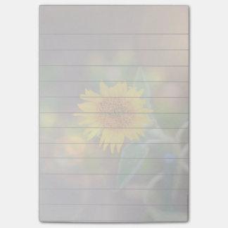 ヒマワリの開花4x6のポスト・イットのパッド ポストイット