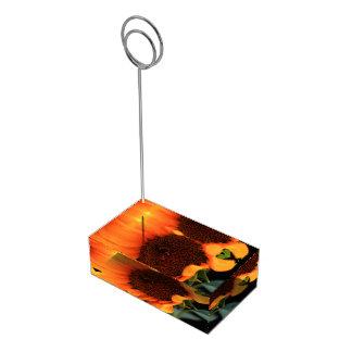 ヒマワリの開花 テーブルカードホルダー