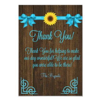 ヒマワリの青は感謝していしています 8.9 X 12.7 インビテーションカード
