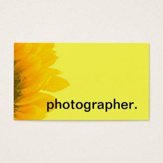 ヒマワリの黄色いマクロ花の写真|のカメラマン 名刺