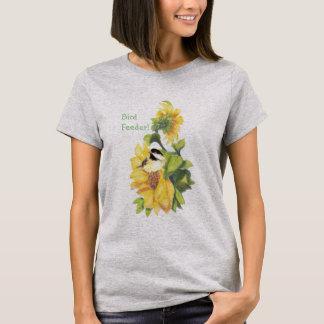 ヒマワリの《鳥》アメリカゴガラとの鳥の送り装置のユーモア Tシャツ