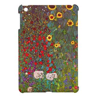 ヒマワリのiPad Miniケースが付いているグスタフのクリムトの庭 iPad Miniケース