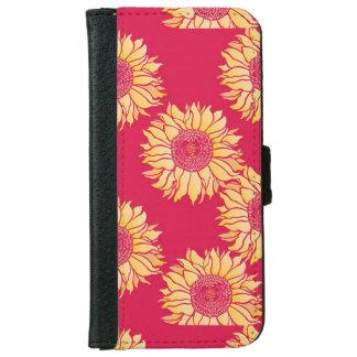 ヒマワリのIphone赤い6/6sの箱 iPhone 6/6s ウォレットケース