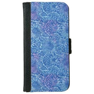 ヒマワリのIphone青い6/6sのウォレットケース iPhone 6/6s ウォレットケース