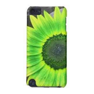 ヒマワリのipod touchの緑および黄色の箱 iPod touch 5G ケース