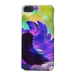 ヒマワリのipod touch紫色の5の箱 iPod touch 5G ケース